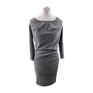 Monrow Sz S Gray ruched long sleeve tunic dress